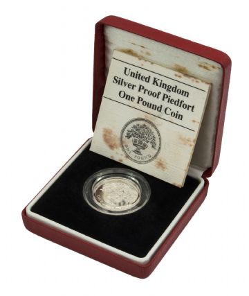 1987 Silver Proof Piedfort One Pound